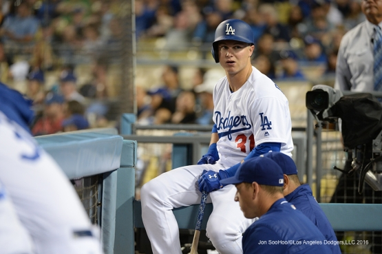 Los Angeles Dodgers Joc Pederson during game against the Atlanta Braves Friday, June 3, 2016 at Dodger Stadium in Los Angeles,California. Photo by Jon SooHoo/© Los Angeles Dodgers,LLC 2016