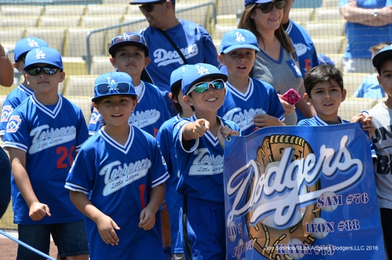 Great Los Angeles Dodger fans pose prior to game against the Atlanta Braves Sunday, June 5, 2016 at Dodger Stadium in Los Angeles,California. Photo by Jon SooHoo/© Los Angeles Dodgers,LLC 2016