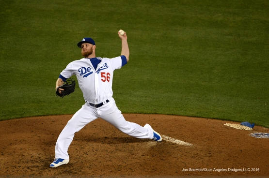 Los Angeles Dodgers J.P. Howell pitches against the Colorado Rockies Monday, June 6, 2016 at Dodger Stadium in Los Angeles,California. Photo by Jon SooHoo/© Los Angeles Dodgers,LLC 2016