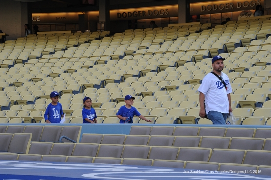 Great Los Angeles Dodger fans at the stadium prior to game against the Colorado Rockies Wednesday, June 8, 2016 at Dodger Stadium in Los Angeles,California. Photo by Jon SooHoo/© Los Angeles Dodgers,LLC 2016