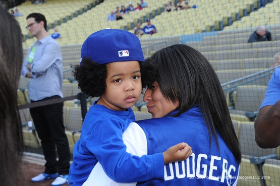 Young Los Angeles Dodger fan against the Colorado Rockies Wednesday, June 8, 2016 at Dodger Stadium in Los Angeles,California. Photo by Jon SooHoo/© Los Angeles Dodgers,LLC 2016