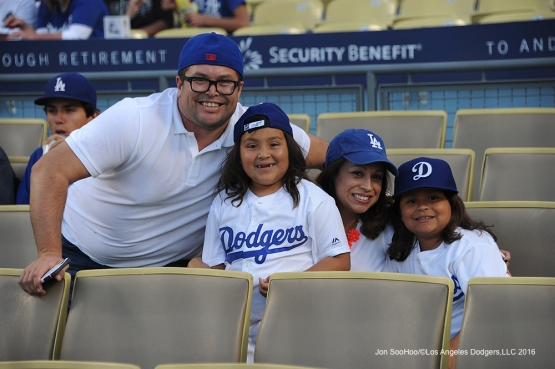 Great Los Angeles Dodger fans pose prior to game against the Colorado Rockies Wednesday, June 8, 2016 at Dodger Stadium in Los Angeles,California. Photo by Jon SooHoo/© Los Angeles Dodgers,LLC 2016