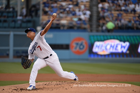 Julio Urias pitches against the Milwaukee Brewers Friday, June 17, 2016 at Dodger Stadium. Photo by Jon SooHoo