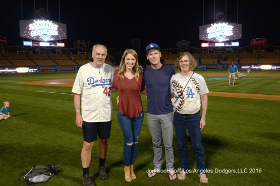 Great Los Angeles Dodger fans after game against the Milwaukee Brewers Friday, June 17, 2016 at Dodger Stadium. Photo by Jon SooHoo