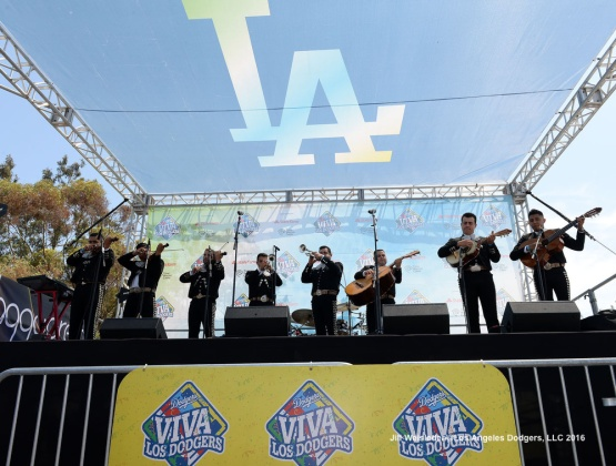 A Mariachi performs during Viva Los Dodgers prior to the game. Jill Weisleder/Dodgers