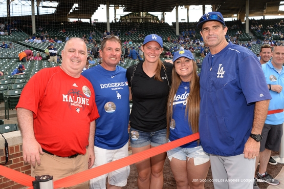 Los Angeles Dodgers Turner Ward and guests prior to game vs the Chicago Cubs Wednesday, June 1,2016 at Wrigley Field in Chicago,Illinois. Photo by Jon SooHoo/©Los Angeles Dodgers,LLC 2016