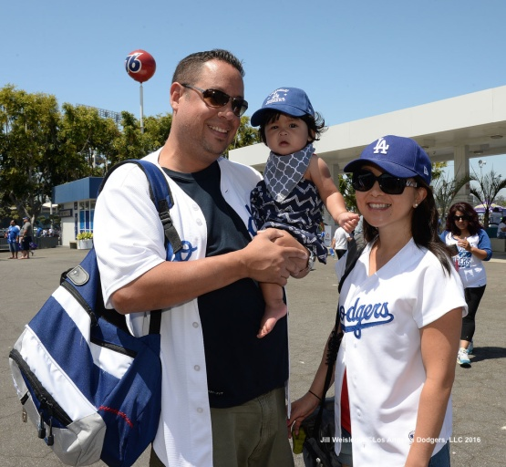 Dodger fans enjoy themselves during Viva Los Dodgers. Jill Weisleder/Dodgers