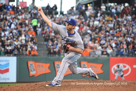 Los Angeles Dodgers Casey Fien pitches against the San Francisco Giants Sunday, June 12, 2016 at AT&T Park in San Francisco, California. Photo by Jon SooHoo/© Los Angeles Dodgers,LLC 2016