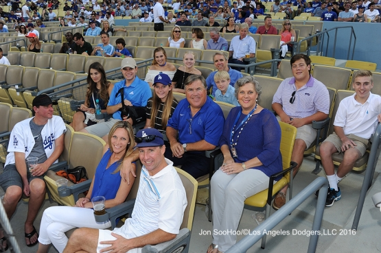 Great Los Angeles Dodger fans before game against the Milwaukee Brewers Satuday, June 18, 2016 at Dodger Stadium. Photo by Jon SooHoo
