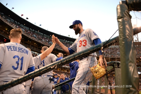 Los Angeles Dodgers against the San Francisco Giants Sunday, June 12, 2016 at AT&T Park in San Francisco, California. Photo by Jon SooHoo/© Los Angeles Dodgers,LLC 2016