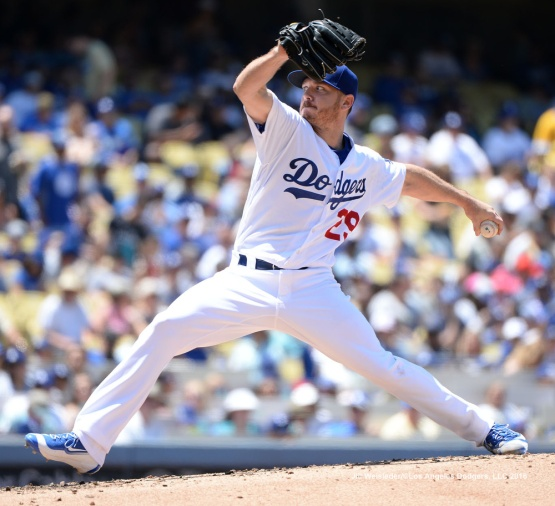 Pitcher Scott Kazmir made the start for the Dodgers against the Atlanta Braves. Jill Weisleder/Dodgers