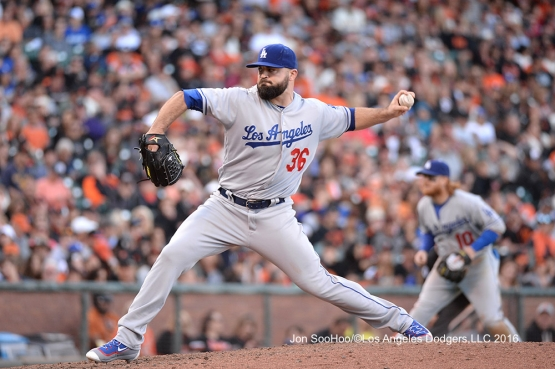 Los Angeles Dodgers Adam Liberatore pitches against the San Francisco Giants Saturday, June 11, 2016 at AT&T Park in San Francisco, California. Photo by Jon SooHoo/© Los Angeles Dodgers,LLC 2016