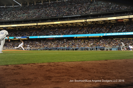 Los Angeles Dodgers Mike Bolsinger pitches against Chase Anderson of the Milwaukee Brewers Saturday, June 18, 2016 at Dodger Stadium. Photo by Jon SooHoo