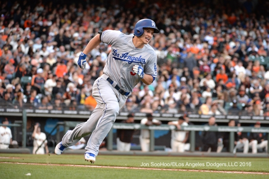 Los Angeles Dodgers Corey Seager against the San Francisco Giants Saturday, June 11, 2016 at AT&T Park in San Francisco, California. Photo by Jon SooHoo/© Los Angeles Dodgers,LLC 2016