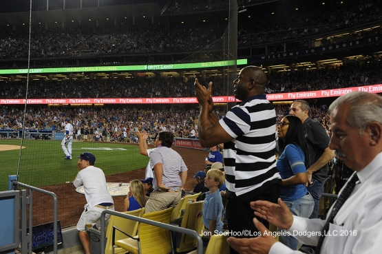 Los Angeles Dodgers during game against the Milwaukee Brewers Satuday, June 18, 2016 at Dodger Stadium. Photo by Jon SooHoo