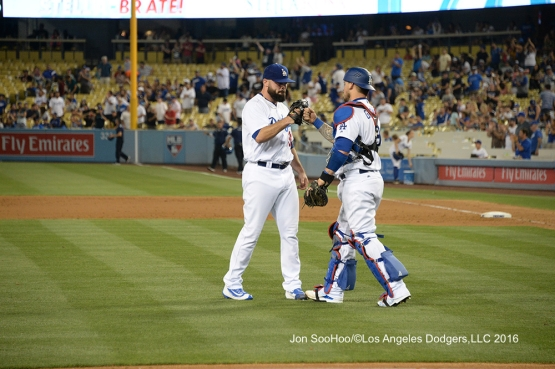 Los Angeles Dodgers beat the Milwaukee Brewers Saturday, June 18, 2016 at Dodger Stadium. Photo by Jon SooHoo