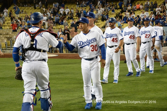 Los Angeles Dodgers beat the Milwaukee Brewers Satuday, June 18, 2016 at Dodger Stadium. Photo by Jon SooHoo