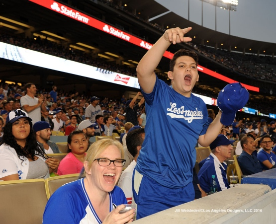 Dodger fans show their support for the team. Jill Weisleder/Dodgers