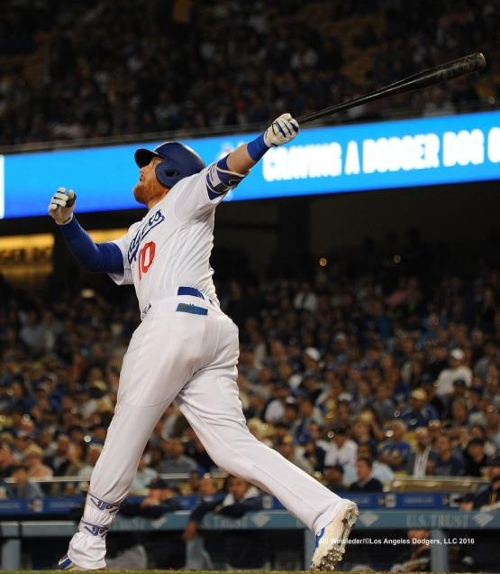 Justin Turner takes a swing. Jill Weisleder/Dodgers