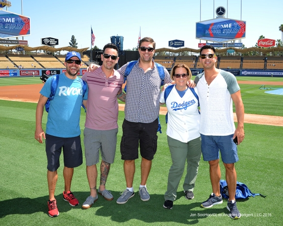 Great Los Angeles Dodger fans prior to game against the Tampa Bay Rays Wednesday, July 27,2016 at Dodger Stadium in Los Angeles,California. Photo by Jon SooHoo©Los Angeles Dodgers,LLC 2016
