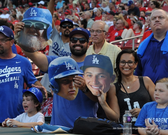 Los Angeles Dodgers during game against the St. Louis Cardinals at Busch Stadium Sunday, July 24, 2016 in St.Louis, Missouri. Photo by Jon SooHoo/©Los Angeles Dodgers,LLC 2016
