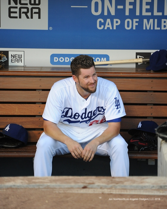 Los Angeles Dodgers Bud Norris during game against the Colorado Rockies Friday, July 1, 2016 at Dodger Stadium in Los Angeles, California. Photo by Jon SooHoo/©Los Angeles Dodgers,LLC 2016