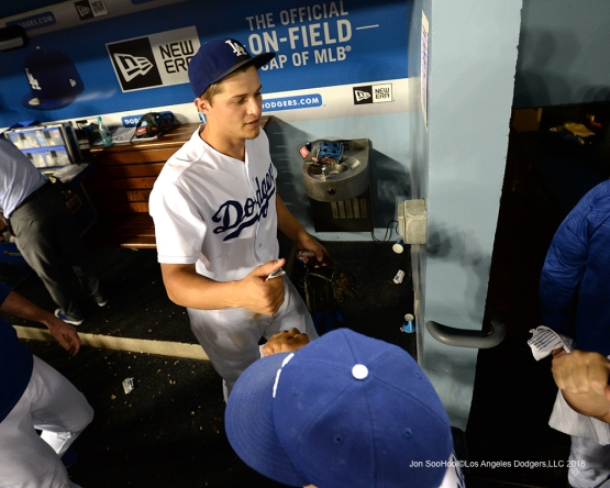 Los Angeles Dodgers during game against the Colorado Rockies Friday, July 1, 2016 at Dodger Stadium in Los Angeles, California. Photo by Jon SooHoo/©Los Angeles Dodgers,LLC 2016