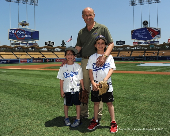 The Kasten Family--Los Angeles Dodgers during game against the Colorado Rockes Sunday, July 3, 2016 at Dodger Stadium in Los Angeles, California. Photo by Jon SooHoo/©Los Angeles Dodgers,LLC 2016