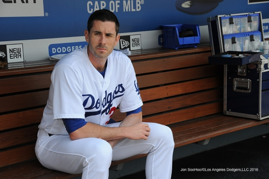 Los Angeles Dodgers Brandon McCarthy during game against the Colorado Rockes Sunday, July 3, 2016 at Dodger Stadium in Los Angeles, California. Photo by Jon SooHoo/©Los Angeles Dodgers,LLC 2016