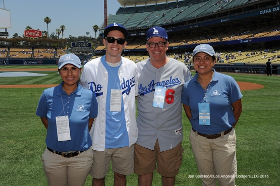 Helpful Honda guests at Los Angeles Dodgers game against the Colorado Rockes Sunday, July 3, 2016 at Dodger Stadium in Los Angeles, California. Photo by Jon SooHoo/©Los Angeles Dodgers,LLC 2016