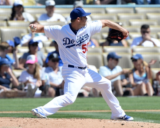 Los Angeles Dodgers Casey Fien during game against the Colorado Rockes Sunday, July 3, 2016 at Dodger Stadium in Los Angeles, California. Photo by Jon SooHoo/©Los Angeles Dodgers,LLC 2016