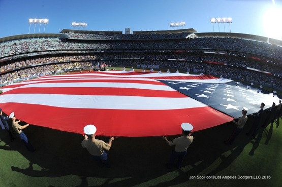 Los Angeles Dodgers during game against the Baltimore Orioles Monday, July 4, 2016 at Dodger Stadium in Los Angeles, California. Photo by Jon SooHoo/©Los Angeles Dodgers,LLC 2016