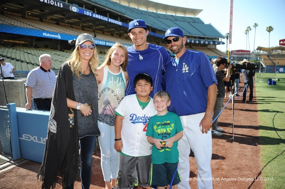 The Woodwards plus one All Star--Los Angeles Dodgers during game against the Baltimore Orioles Tuesday, July 5, 2016 at Dodger Stadium in Los Angeles, California. Photo by Jon SooHoo/©Los Angeles Dodgers,LLC 2016