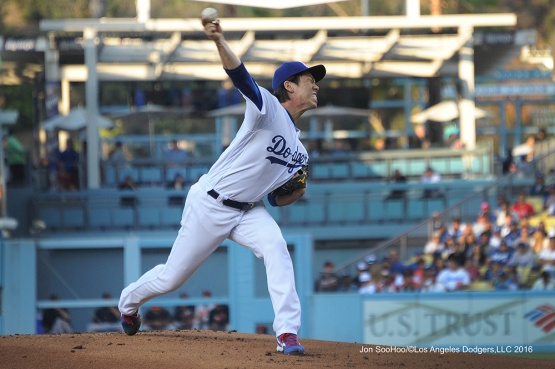 Kenta Maeda--Los Angeles Dodgers during game against the Baltimore Orioles Tuesday, July 5, 2016 at Dodger Stadium in Los Angeles, California. Photo by Jon SooHoo/©Los Angeles Dodgers,LLC 2016