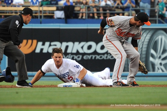 Corey Seager--Los Angeles Dodgers during game against the Baltimore Orioles Tuesday, July 5, 2016 at Dodger Stadium in Los Angeles, California. Photo by Jon SooHoo/©Los Angeles Dodgers,LLC 2016