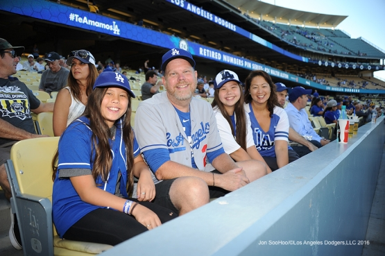 Los Angeles Dodgers during game against the San Diego Wednsday, July 7, 2016 at Dodger Stadium in Los Angeles, California. Photo by Jon SooHoo/©Los Angeles Dodgers,LLC 2016