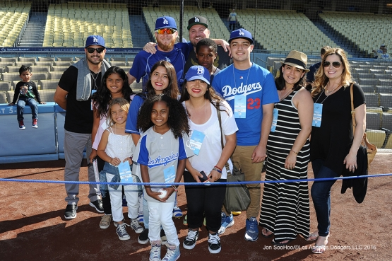 Great Los Angeles Dodger fans prior to game against the San Diego Friday, July 8, 2016 at Dodger Stadium in Los Angeles, California. Photo by Jon SooHoo/©Los Angeles Dodgers,LLC 2016