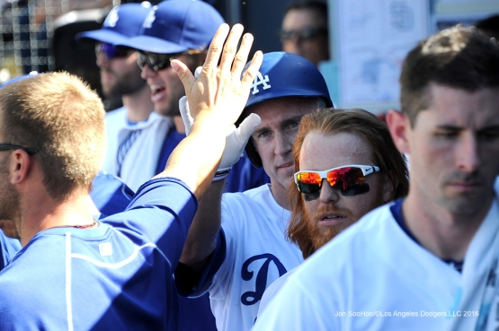 Los Angeles Dodgers during game against the San Diego Padres Saturday, July 9, 2016 at Dodger Stadium in Los Angeles, California. Photo by Jon SooHoo/©Los Angeles Dodgers,LLC 2016