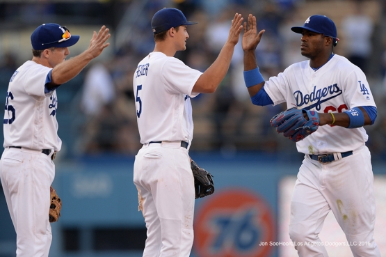 Los Angeles Dodgers win against the San Diego Padres 4-3  Saturday, July 9, 2016 at Dodger Stadium in Los Angeles, California. Photo by Jon SooHoo/©Los Angeles Dodgers,LLC 2016