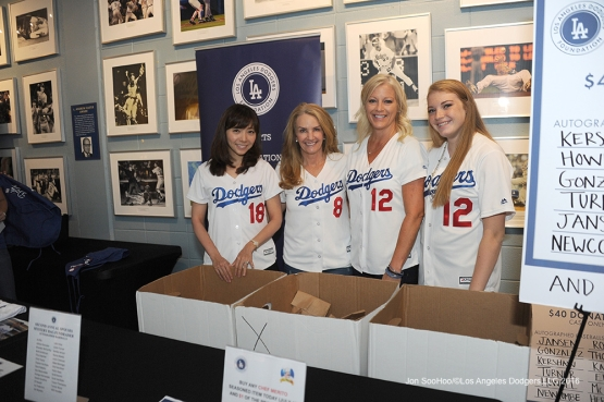 Los Angeles Dodgers 2nd Annual Spouses Mystery Bag Fundraiser  during game against the San Diego Padres Sunday, July 10 2016 at Dodger Stadium in Los Angeles, California. Photo by Jon SooHoo/©Los Angeles Dodgers,LLC 2016