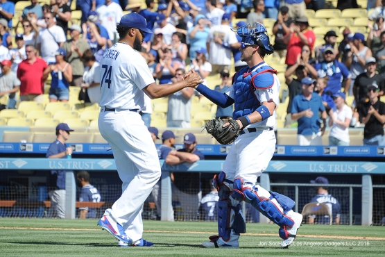 Los Angeles Dodgers win against the San Diego Padres Sunday, July 10 2016 at Dodger Stadium in Los Angeles, California. Photo by Jon SooHoo/©Los Angeles Dodgers,LLC 2016