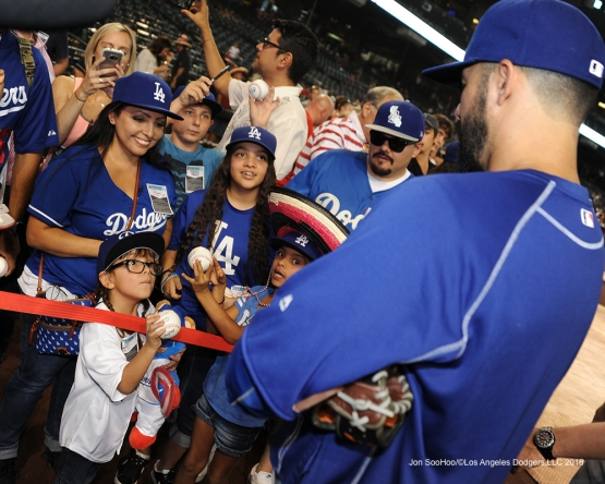 Great Los Angeles Dodger fans during game against the Arizona Diamondbacks Saturday, July 16, 2016 at Chase Field in Phoenix, Arizona. Photo by Jon SooHoo/©Los Angeles Dodgers,LLC 2016