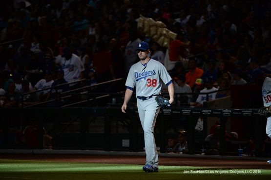 Los Angeles Dodgers during game against the Arizona Diamondbacks Saturday, July 16, 2016 at Chase Field in Phoenix, Arizona. Photo by Jon SooHoo/©Los Angeles Dodgers,LLC 2016