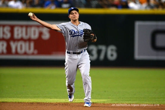 Los Angeles Dodgers Corey Seager during game against the Arizona Diamondbacks Sunday, July 17, 2016 at Chase Field in Phoenix, Arizona. Photo by Jon SooHoo/©Los Angeles Dodgers,LLC 2016