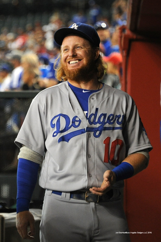 Los Angeles Dodgers Justin Turner during game against the Arizona Diamondbacks Sunday, July 17, 2016 at Chase Field in Phoenix, Arizona. Photo by Jon SooHoo/©Los Angeles Dodgers,LLC 2016