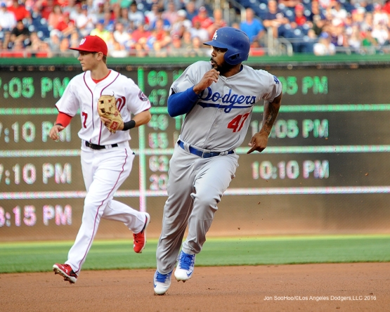 Los Angeles Dodgers during game against the Washington Nationals Tuesday, July 19, 2016 at Nationals Park in Washington,DC. Photo by Jon SooHoo/©Los Angeles Dodgers,LLC 2016