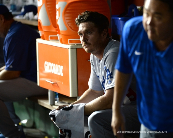 Los Angeles Dodgers Scott Kazmir during game against the Washington Nationals Tuesday, July 19, 2016 at Nationals Park in Washington,DC. Photo by Jon SooHoo/©Los Angeles Dodgers,LLC 2016