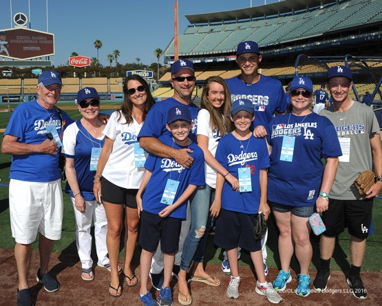Great Los Angeles Dodger fans prior to game against the Tampa Bay Rays Tuesday, July 26,2016 at Dodger Stadium in Los Angeles,California. Photo by Jon SooHoo©Los Angeles Dodgers,LLC 2016