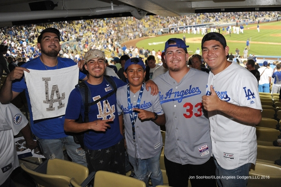 Great Los Angeles Dodger fans during game against the Tampa Bay Rays Tuesday, July 26,2016 at Dodger Stadium in Los Angeles,California. Photo by Jon SooHoo©Los Angeles Dodgers,LLC 2016