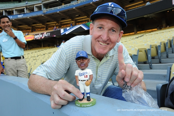 Great Los Angeles Dodger fan poses prior to game against the Arizona Diamondbacks Friday, July 29,2016 at Dodger Stadium in Los Angeles,California. Photo by Jon SooHoo/©Los Angeles Dodgers,LLC 2016